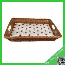 2014 Hot selling antique wooden serving tray,cheap wicker baskets,bulk wicker baskets