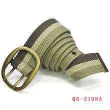 Men's cotton belt between stripes slimming belt, weaving printing casual leather belt,Braided belt