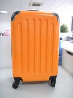 elegant and stylish shell with pattern printing trolley luggage