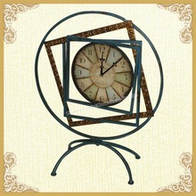 Metal desktop clock,desktop clock art