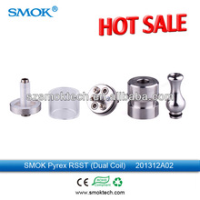 Best tank!!! Great vaping Smoktech rebuildable dual coil pyrex RSST