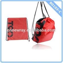 4 Colors Drawstring Sackpack Cinch Sack Tote Gym Bag Sport Pack