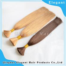 Double Drawn brazilian human hair bulk, bulk buy from china