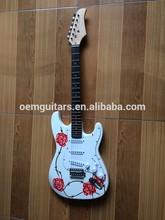 oem stencil plate body top st electric guitar