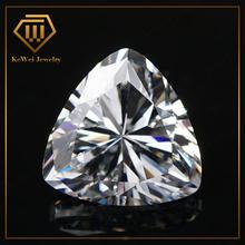 Charming Gemstone 2*2 White Trillion Cut Cubic Zirconia For Gemstone Jewelry
