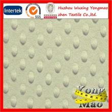 Huzhou minky dot fleece / blush minky fabric dot for baby items