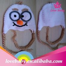 Wholesale handmade crochet children kids knit hat with braids