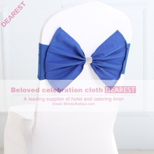 royalblue new model high quality hot selling fashion wedding chair sash