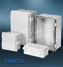 IP66/CE TE Series plastic box(plastic latch+Hinge type)/wall mount plastic enclosure