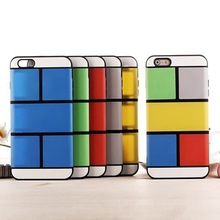 detachable assorted colors DIY case for iPhone 6 plus TPU+PC