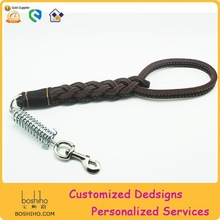Real leather retracted dog leash for traning