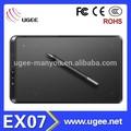 ugee ex07 5080 lpi recarregável caneta assinatura eletrônica tablet gráfico