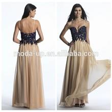 Spaghetti strap dress, patterns of lace women dresses long, chiffon lace prom dress