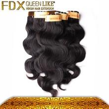 wholesale virgin hair, 6A full cuticle double weft virgin raw 100 percent remy human hair