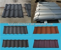 stone coated steel roof tiles/metal roof shingle roll machine