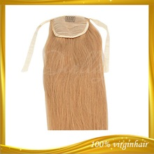 High quality Gorgeous human hair weaving straight ponytail