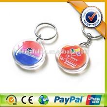 Custom Printed Logo Plastic Round Shape Acrylic Keychains