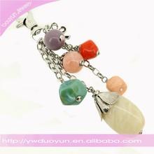 Quartz Crystal Key Chain Pendant