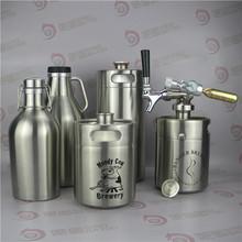 Stainless steel growler for ceramic white bulk water dispenser with lid