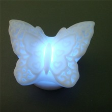 7 Color Romantic Butterfly Christmas LED Night Light Lamp Battery Party