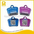 Customized printing logo tracking pet id tag qr pet tag