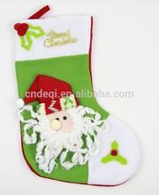 Beard old man green Christmas gift bag Stockings Sock Decoration