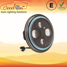 Qeedon 7inch Round Low and high Beam LED Headlight with park light classic for mustang car for Jeep Wrangler