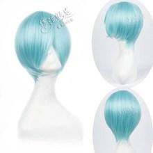 Wholesale New 30cm MSN Straight Heat Resistent Fiber Water Blue Wigs PL-3021-5