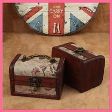 Chinese Antique Wood Treasure Jewelry Storage Box