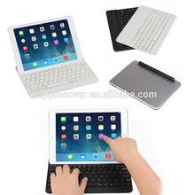 For iPad Air Bluetooth Keyboard Case Wireless Aluminium Keyboard Leather Case for iPad Air