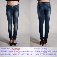 lady skinny jeans Stud decorative women's denim