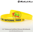 2014 Newest rubber hand band bracelet   promotional rubber wristbands   all sizes Customized rubber hand band bracelet