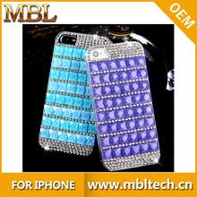 Luxury bling glitter diamond chrome rhinestone hard mobile phone case for iPhone 5 5s 5g