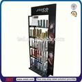 Supermercado tsd-m3072 shampoo stand exposição de assoalho/beleza salão de exposição de varejo shampoo/metal vidro prateleira de exposição