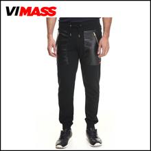 Customize black men cargo pants with big side pockets