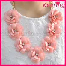 New alibaba china wedding dress wholesale chunky bead necklace for little girl ,christmas ornament WNK-258