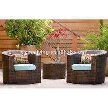 2015 New arrival garden treasures resin wicker outdoor furniture