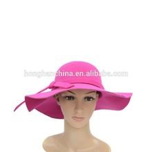 plum color faux wool felt hat cheap