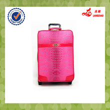 Red color two wheels trolley luggage item no.s063 eva luggages
