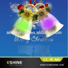 Musical BLINKING CHRISTMAS BELL Light Strand NEW IN BOX Plays 8 Songs Battery