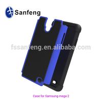 Football tattoo plastic cover for Samsung galaxy mega 2 shockproof case / 3 in 1 hybrid case for galaxy mega 2 750F smart shell