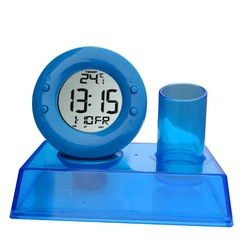 XD-188 new Fashion Office table water powered clock with pen holder