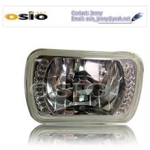 5' SBMC CRYSTAL GLASS LED HALO RING 12V/24VAuto Halogen Semi Sealed Beam Auto Halogen Lamp H4 or HID