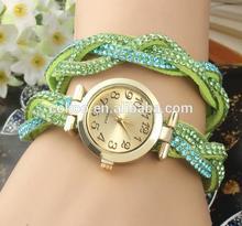New style fashion quartz women watch diamond leather lady dress clock gift