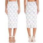new fashion picture women pencil skirts jacquard high-waisted pencil skirt