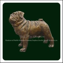 Cast Bronze Life Size Bulldog Statue