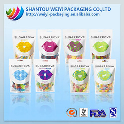 Low-cost Reusable Aluminum foil standing packaging for food for snack food packaging with window