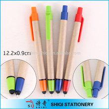 Promotion Wholesale Logo-Printing Eco Paper Ballpoint Pen & Stylus Pen