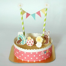 trending hot products funny Easter paper cake topper for happy birthday cake decoration supplies