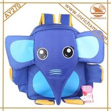 Lastest 3D Elephant Style School bag Fancy Kids Backpack Zoo Pack